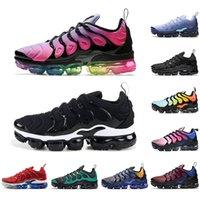 TN de los zapatos corrientes para los hombres de las mujeres Negro Blanco Hyper Violeta Juego Real Light Blue actual Bred Chaussures transpirables zapatillas de deporte entrenadores deportivos