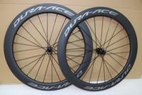 roues carbone moyeu de disque de frein Dura ace 700C profondeur de 60mm Route 25 mm largeur carbone pneu essieu envoi gratuit