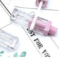 Color Fade Color Square Lipgloss Tube DIY ABS Plastics Vacío Líquito Labios Laboral Tubos de esmalte Labial Nuevo 1 9ll L2