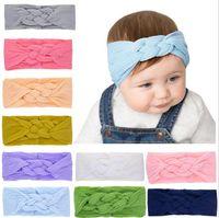Bandeau de filles Bandeau Chinois Knot Bandeau Baby Stretch Couleur Couleur Bébé Fille Décorative Tiara Hair Accessoires 9 Couleurs YL199