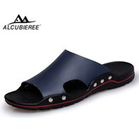 Alcubieree marke lässig leichte sandalen männer sommer atmungsaktive flache strandschuhe herren flipf flops rutschfeste hausschuhe schräg schräg t200420