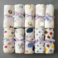Muslin Baby Blanket Cotton Newborn Swaddles Bath Gauze Infant Wrap Kids Sleepsack Stroller Cover Play Mat 78 Designs 50pcs YWY1387