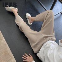 IEFB / Desgaste de los hombres Otoño Nuevo Pantalones plisados Pantalones delgados masculinos Casual Punto de punto Suelte Pantalones de pierna recta 9y2451 201222
