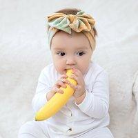Tie Dye Imprime Velvet desarrumado arcos Headband Nó Baby Baby Head Envoltório Acessório de Cabelo Infantil 12 pcs / lote