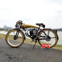 4 80cc Stroke moteur 4.7Liters réservoir de gaz à la main Chopper Bike Tough Guy Custom Made Essence Exposition vélo rétro vélo de course