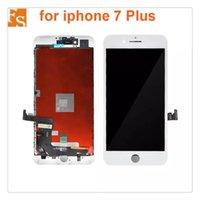 Tam Set LCD iPhone 7/7 Artı LCD Ekran Dokunmatik Ekran Digitizer Komple Montaj Ile Ev Düğmesi Ön Kamera + Arka Plaka