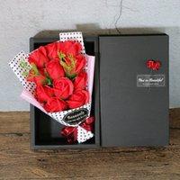 Yeni sabun buket tutma çiçekler 11 taşınabilir PP torba öğretmenler günü doğum günü Sevgililer Günü hediyesi düğün dekorasyon gül