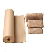 크래프트 포장 용지 11.8inch * 130ft (30cm * 40m) 벌집 쿠션 랩 롤 롤 천공 포장 이동 포장 JK2102XB