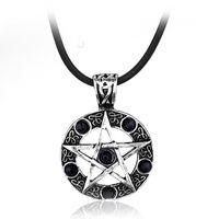 Цепи сверхъестественное ожерелье Пентаграмма Wicca язычник Дин Винчестер Подвеска Урожай Готический Женщина Мужские Ювелирные Изделия Подарок