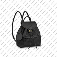 M45501 M45397 MONTSOURIS PM zarif kadın hakiki inek derisi deri emobss tuval toka sırt çantası satchel çanta omuz çantası
