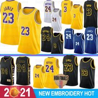 NCAA Crenshaw 23 LeBron James 3 Anthony Davis Maillots de Basketball Lakers de Los Angeles 24 Kobe Bryant 8 Bryant 32 Johnson 0 Kyle Kuzma Hommes Jeunes