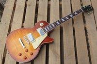 Vente chaude Flame Maple Custom Shop Shop Billy Signé Burst Aged Gates Pearly Les Standard LP Guitare électrique Livraison gratuite