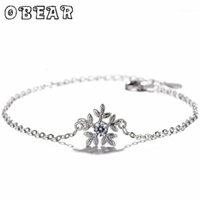 Link, Cadeia Banhado de Prata Banhado Romântico LNlaid Zircon Bracelet para Mulheres Estilo Coreano Doce Natal Presente1