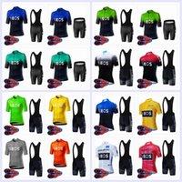 2020 Yeni Ineos Takım Yaz Bisiklet Jersey Önlüğü Şort Set Erkekler Bisiklet Kıyafetleri Nefes Bisiklet Kısa Kollu Suit Yarış Giyim Y20061204