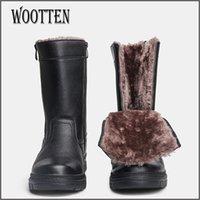 Wärm Wärmstegen Leder handgefertigt für Männer Platform Hohe Stiefel Winter # YM5223C2 201204