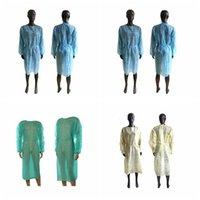 Vestidos de roupa descartável Isolamento não tecido Ternos Vestuário de protecção ao ar livre Anti pó descartável Gabardinas