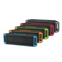 SC208 haut-parleur Bluetooth sans fil Rechargeable Stéréo Stéréo Chargement USB Carte TF Carte FM Radio Multifonctional Sound Boombox