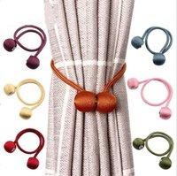 Gardin spännen magnetisk pärla boll gardin tickbacks headset magnetiska snap bandage backs holdbacks spänne clips dekor tillbehör kka1427
