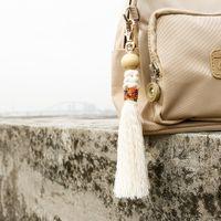 DIY Teass Tassel Key Anillos Bolso Cuelga Hecha a mano Knot Beads Llavero Joyería de moda Will y Sandy