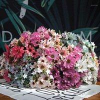 21 cabeça falsa flor primavera adorável margarida samll samll sunflower decoração de casa foto adereços artificiais crisântemum1