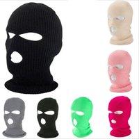 3 Máscara agujero de la cara llena de esquí Máscara Máscara Cap invierno capilla del pasamontañas moto casco de la motocicleta de la cara llena del casco táctico del Ejército