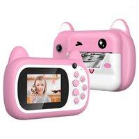 Caméra d'impression instantanée, caméscope vidéo de lanière à caméra numérique pour enfants, créatif pour garçons et filles1 caméras