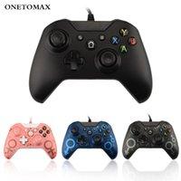 Controlador USB con cable controlador de Microsoft para Xbox One Gamepad para Xbox One PC Win 7 8 10 Joystick Gamepad con vibración dual
