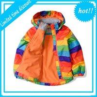 Детские теплые ветрозащитные куртки 2020 девушки зимние мальчики детей ветровка радуга бене верхняя одежда на 2 4-5 6-8 лет