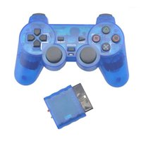 Game Controller Joysticks Color trasparente Gamepad wireless per PS2 2.4G Joystick Vibration BluTooth Controller 2 Joypad1