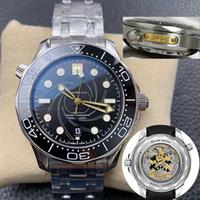 Top Mens Ceramic Limited Edition 10 Orologio 50 parole Uomo Guarda orologi Orologio Movimento automatico Meccanico Diver James Bond 007 Montre de Luxe 300m orologi da polso