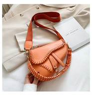 Zz weibliche PU-Leder Umhängetasche Tragbare Satteltasche Schulterband Messenger Bag Designer Handtaschen Casual Crossbody Taschen 5 Farben