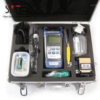Faseroptikausrüstung 17pcs / satz FTTH Tool Kit Leistungszähler Locator Stripper FC-6S Cleaver Cabinet1