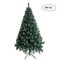 6FT Iron Leg White PVC 650 Branches Christmas Tree