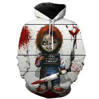Korku Film Chucky Hoodies Stil Erkekler Marka Moda 3D Baskı Desen Tişörtü Sonbahar Uzun Kollu Hip Hop Kazak Artı Boyutu Y201123