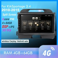 PX6 Android 10 Araba Multimedya Oyuncu KiasportAge 3 4 2010-15 KIA Sportage için Otomatik Navigasyon GPS 4G 1 2 Sedan Araba DVD