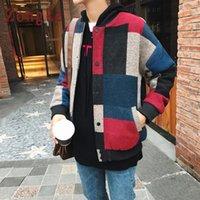 Zongke الصوفية منقوشة منفذها سترات الرجال أزياء الهيب هوب الشارع الشهير في فصل الشتاء سترة الرجال معطف 5XL 2020 سبنج جديد