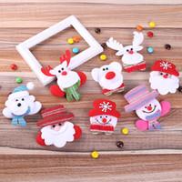 عيد الميلاد شارة LED عيد الميلاد الزينة ثلج بروش وسام عيد الميلاد إكسسوارات الأطفال بروش شارة زينة سانتا كلوز ث-00335