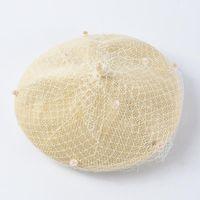Элегантная женщина Fedoras шерсть войлочная сетка лук Цветочные формальные берцы Fedora Hats для женщин 2019 ретро берет британская сетка марлевая точка H Jllkew