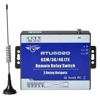 경보 시스템 가로등 자동화 제어를위한 2 개의 출력이있는 무선 릴레이 스위치 3G 4G SMS 원격 컨트롤러 RTU50201