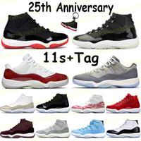 High 11 11S كرة السلة أحذية مدربين bed 25th الذكرى الوريث ليلة مارون الوردي الأفعى الجلد الفوز مثل 96 منخفضة كونكورد الرجال النساء أحذية رياضية