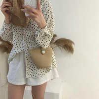Multi-styles Bag Bag Handmade Straw Mini Straddling Bags Beach Woven Pearl Cotton Shell Grass Woven Riqao