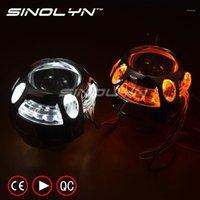 Otro sistema de iluminación Sinolyn Q5 Metal 3.0 pulgadas D2S D2H HID BI Xenon Proyector Lente de lente LED LED DRL ANGEL EYES HALO W / WO GURN SIRNIW H4 CA