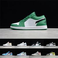 망 1 농구 신발 jumpman 낮은 1s 여자 금지 된 자주색 시카고 검은 발가락 법원 보라색 소나무 녹색 UNC 그림자 운동화