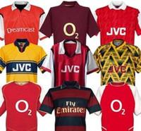 Highbury Shirt Jersey Football Pires Henry Reyes 2002 04 Jersey rétro 05 98 99 Bergkamp 94 95 Adams Manches longue 96 97 Galla