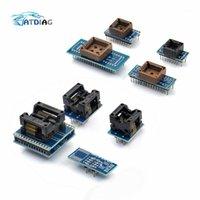 TL866CS TL866A 8 adet Programcı Adaptörler Soket Kiti SOP8 + SOP16 + PLCC32 + PLCC44 Adaptörü EZP2010 RT809H Programcı1