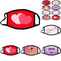 For Valentine' s Day Face Mask Mask Cotton Cloth Designe...