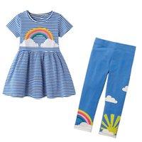 Little Maven Girls Boutique Outfits Rainbow Kleinkind Mädchen Kleidung Set Kinder Sommer Boutique Outfits Kits für Baby 201017