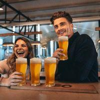 4 em 1 copos de vinho Nova cerveja festa de vidro combinação copos de vinho de vinho suprimentos de festa material acrílico HHXD24334