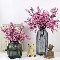 Flores de cereja flores artificiais Bebê respiração do bebê Gypsophila Falske Flores DIY Decoração de Casamento Casa Ramalhete Faux Filial1