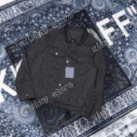 Adam Tasarımcılar Giysi Ceketler Paris Jakarlı Mektubu Denim Ceket Casual Erkek Kış Mont Erkek Ceket Siyah